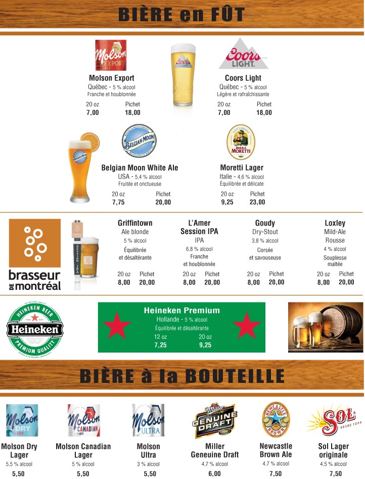 Bières & Cocktails
