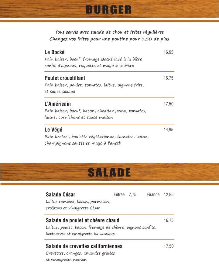 Burgers & Salades